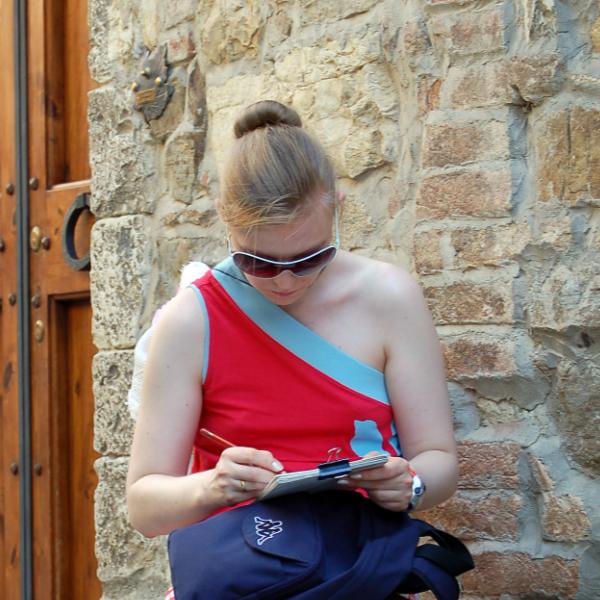 urban sketching in Tuscany Italy Yulia A korneva