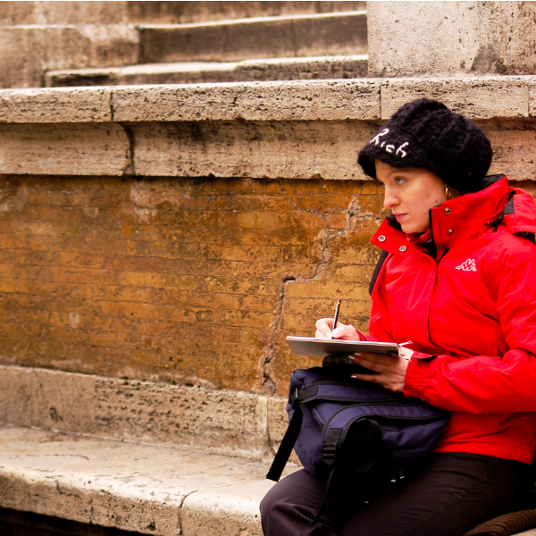 Winter putdoor sketching in Rome Italya Yulia A Korneva