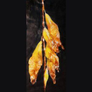 Gattifoglio di salice; aerografia su carta; 30x40 cm, 2021. Compra arte on line